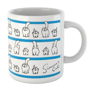 Simons Cat Lined Up Cats White 11oz Mug