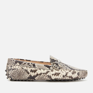 Tod's Women's Gommini Double T Loafers - Snake Print