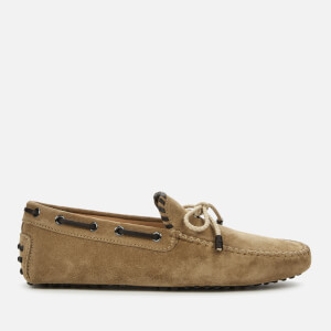 Tod's Men's Suede 2 Tone Driving Shoes - Cookie