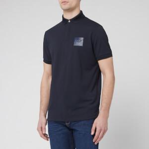 Emporio Armani Men's Reflective Logo Polo Shirt - Navy