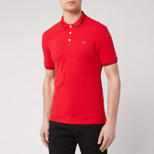 Emporio Armani Men's Tipped Polo Shirt - Red