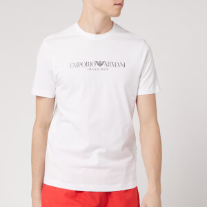 Emporio Armani Men's Large Logo T-Shirt - White