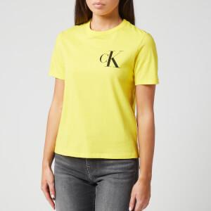 Calvin Klein Jeans Women's Back Institutional Logo Slim T-Shirt - Solar Yellow