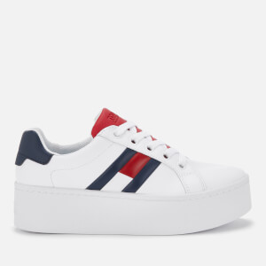 Tommy Jeans Women's Flatform Trainers - Red White Blue