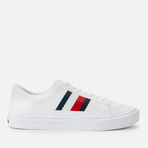 Tommy Hilfiger Men's Lightweight Stripes Knit Trainers - White