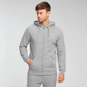 MP Men's Essentials Zip Through Hoodie - Classic Grey Marl