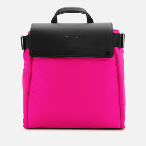 Karl Lagerfeld Women's K/Ikon Nylon Backpack - Fuchsia/Black