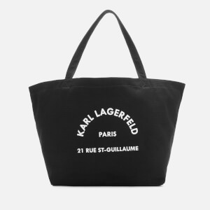 Karl Lagerfeld Women's K/Rue St Guillaume Canvas Tote Bag - Black