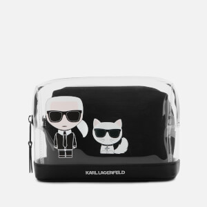 Karl Lagerfeld Women's K/Ikonik Transparent Pouch - Transparent