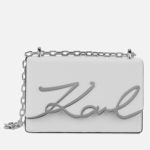 Karl Lagerfeld Women's K/Signature Small Shoulder Bag - White