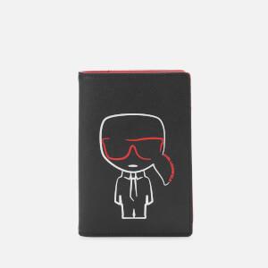 Karl Lagerfeld Women's K/Ikonik Outline Passport Holder - Black