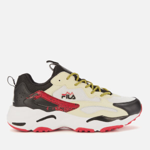 FILA Men's Ray Tracer Trainers - Fila Cream/Black/Fila Red