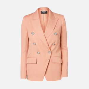 Balmain Women's Oversized 6 Button Peak Lapel GDP Jacket - Nude