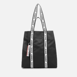 Tommy Jeans Women's Nylon Logo Tape Tote Bag - Black