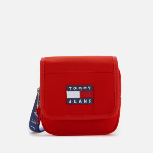 Tommy Jeans Women's Heritage Flap Nylon Cross Body Bag - Racing Red