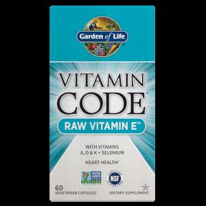 Vitamin Code Raw Vitamin E - 60 Capsules