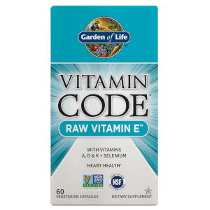 Vitamin Code Raw Vitamin E - 60 cápsulas