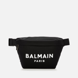 Balmain Men's B-Bumbag 28-Nylon and Printed Logo - Noir