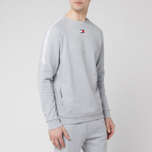 Tommy Sport Men's Fleece Tape Crew Neck Sweatshirt - Grey Heather
