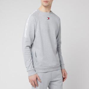 Tommy Sport Men's Fleece Tape Crew Neck Sweatshirt - Grey Heather