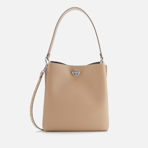 Coach Women's Polished Pebble Leather Charlie Bucket Bag - Taupe
