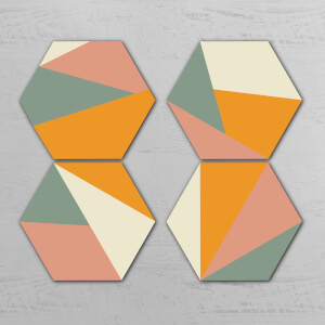 Triangles Hexagonal Coaster Set
