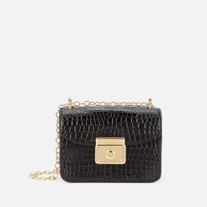 Lauren Ralph Lauren Women's Heritage Lock Mini Cross Body Bag - Black