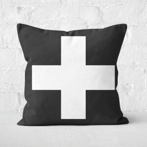 The Motivated Type Swiss Cross Square Cushion