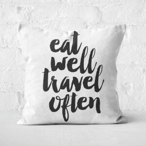 The Motivated Type Eat Well Square Cushion