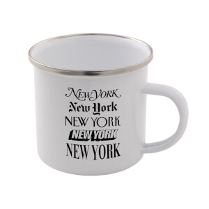 The Motivated Type New York New York Enamel Mug
