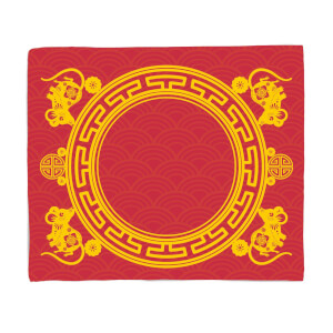Chinese New Year Baby Backdrop Blanket Fleece Blanket