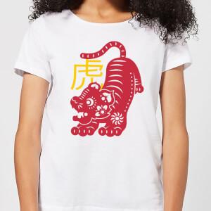 Chinese Zodiac Tiger Women's T-Shirt - White