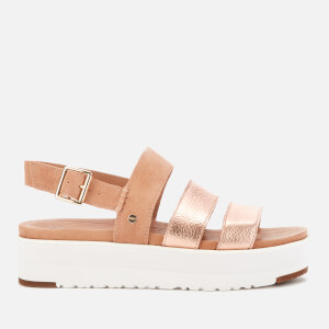 UGG Women's Braelynn Metallic Flatform Sandals - Rose Gold