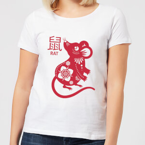 Year Of The Rat Women's T-Shirt - White