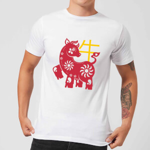 Chinese Zodiac Ox Men's T-Shirt - White