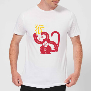 Chinese Zodiac Monkey Men's T-Shirt - White