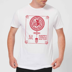 Happy Chinese New Year Red Men's T-Shirt - White