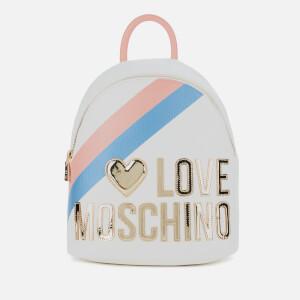 Love Moschino Women's Logo Stripe Backpack - Fantasy