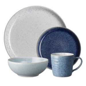 Denby Studio Blue 16 Piece Tableware Set