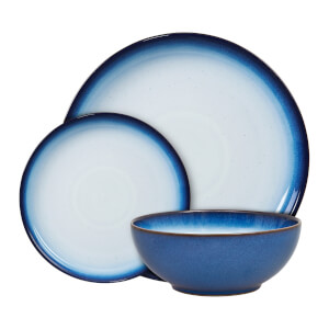 Denby Blue Haze 12 Piece Tableware Set