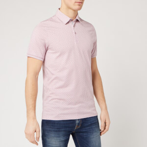 Ted Baker Men's Kandi Geo Print Polo Shirt - Dusky Pink