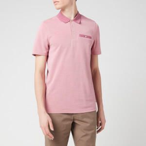 Ted Baker Men's Carosel Flatknit Collar Polo Shirt - Pink