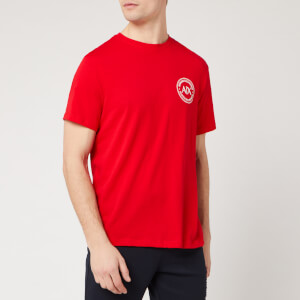 Armani Exchange Men's Round Logo T-Shirt - Chinese Red