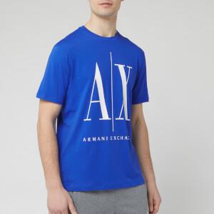 Armani Exchange Men's Ax and Script Logo T-Shirt - Saint Tropez