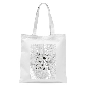 The Motivated Type New York Tote Bag - White