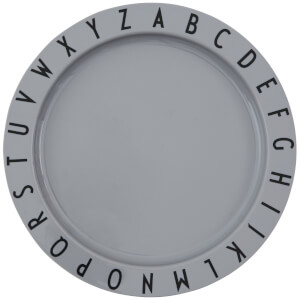 Design Letters Eat & Learn Tritan Deep Plate - Grey