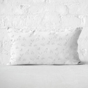 Muted Willy Print Rectangular Cushion