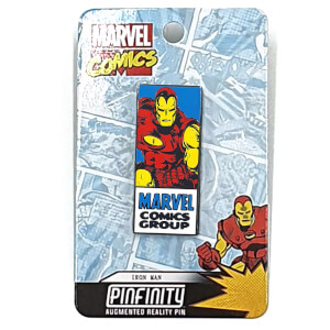 Marvel Iron Man Comic Augmented Reality Pin Badge