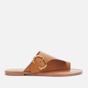 Coach Women's Luca Leather Toe Post Sandals - Light Caramel