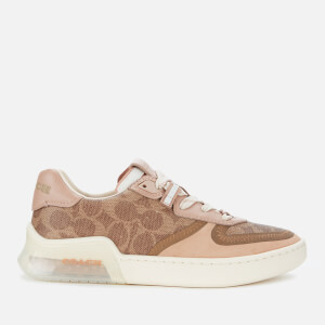 Coach Women's CitySole Signature Print Court Trainers - Tan/Beachwood